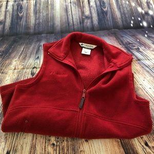 Columbia Red Fleece Vest